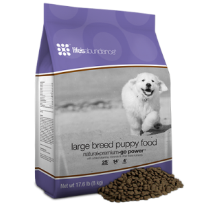 Maintaining Healthy Weight Weight Chart and Healthy Food Large Breed Puppy Food is formulated with select ingredients to help your puppy grow and thrive. With Life's Abundance, you can be confident that you're feeding advanced nutrition to help your puppy achieve and maintain optimal health.