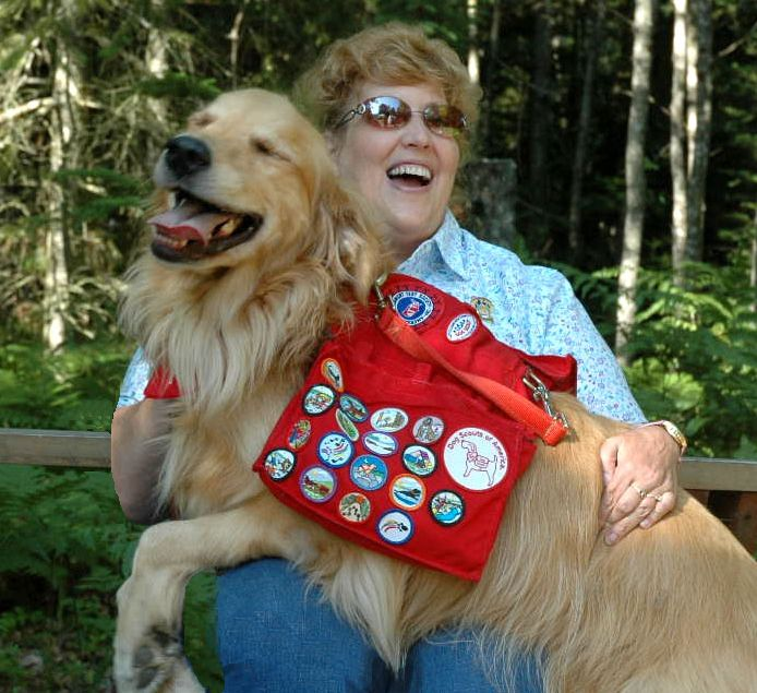 Happy Campers Terri and Ty Dog Scouts of America Media Press Information Photo Used with Permission