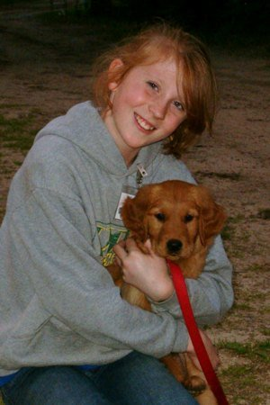 Young Learners Richelle and pup - Dog Scouts of America Media Press Information Photo Used with Permission